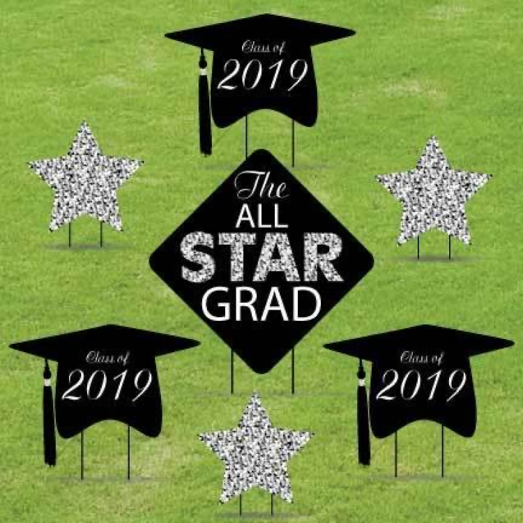 Graduation Silver Star (Custom)