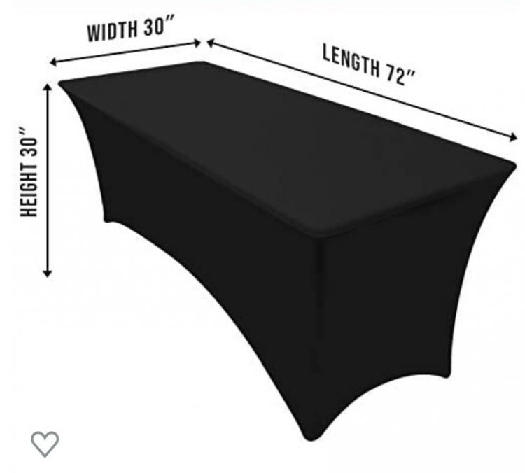 6' Black Table Cloth